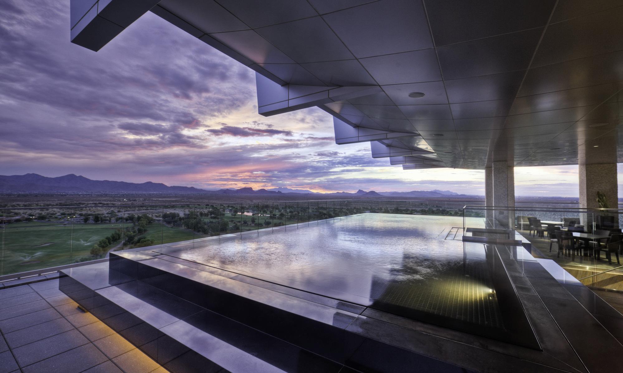 Scenic Romantic Fine Dining Restaurant In Scottsdale Orange Sky